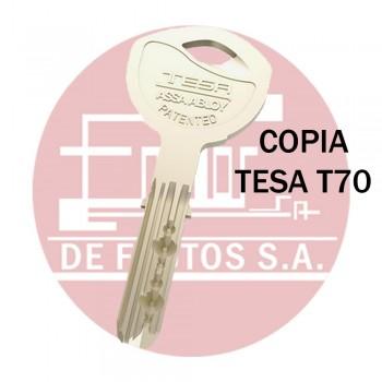 Copia de llave TESA T70