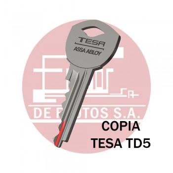 Copia de llave TESA TD5 / TD51
