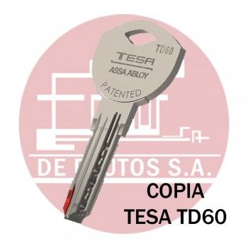 Copia de llave de Seguridad TESA TD60