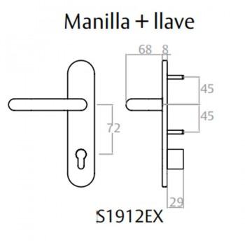 Manilla Bocallave S1912EX para Antipanicos TESA ASSA ABLOY