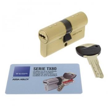 Cilindro Seguridad TX80 Latón TESA ASSA ABLOY