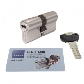 Cilindro Seguridad TX80 Níquel TESA ASSA ABLOY