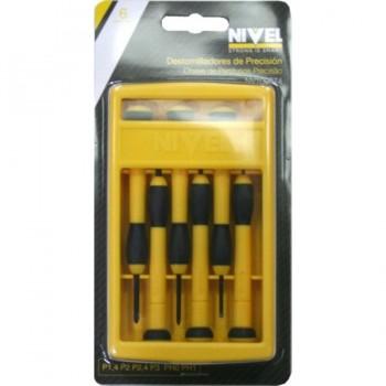 Juego Destornilladores Precisión 6 Piezas NIVEL