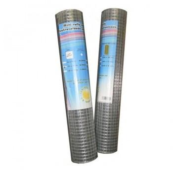 Malla Electrosoldada de Acero Galvanizado 13x13x1mt (Rollo 10mt)