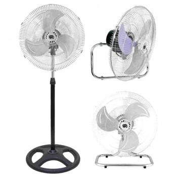 Ventilador 3 Posiciones Pie/Suelo/Pared 45cm 90W