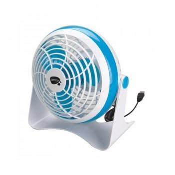 Ventilador con USB de Sobremesa 15cm Blanco / Azul