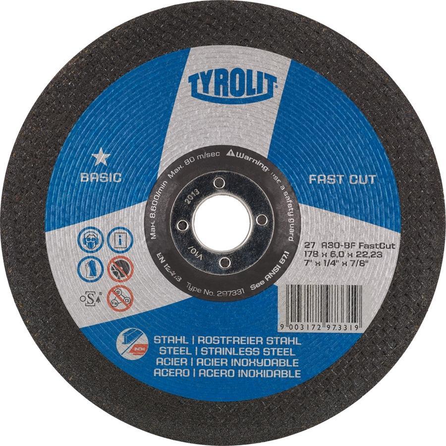 Tyrolit Disco Desbaste Basic FASTCUT 230X6X22