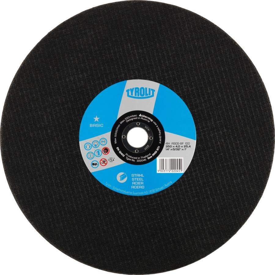 Tyrolit Disco Corte Basic para Acero 300X2.5X25.4