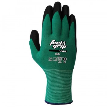 Guantes H257 FEEL&GRIP NYLON VERDE JUBA