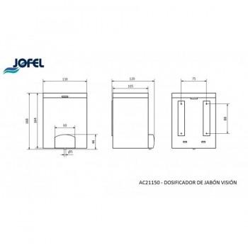 Dosificador de Jabón 1,4 Lts JOFEL AC21150