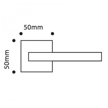 Divalfer Juego Manivela Roseta Cuadrada Minerva 50x50mm