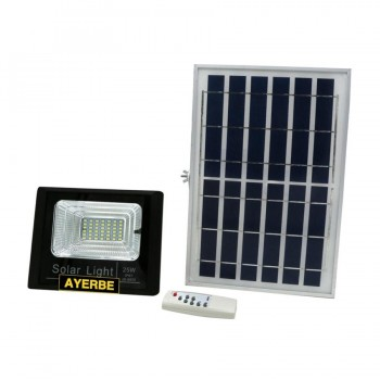 Foco LED con Placa Solar 25W AYERBE