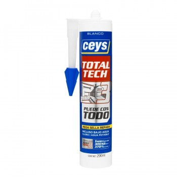 Adhesivo TOTAL TECH CEYS Blanco Cartucho 290ml