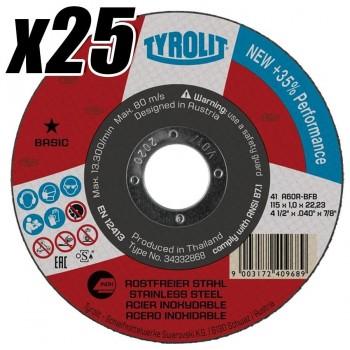 Caja de 25 Discos de Corte 115x1mm (25UDS) TYROLIT