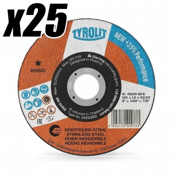 Caja de 25 Discos de Corte 125x1mm (25UDS) TYROLIT